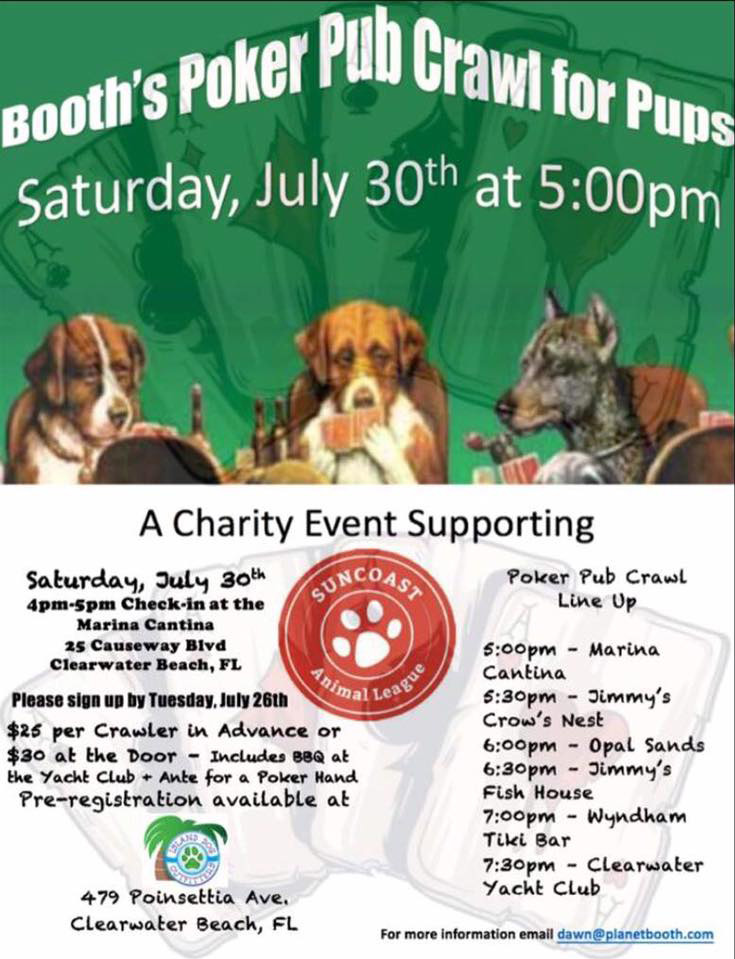 Epic Events by Booth, Inc. - Event Planner - Charity Event Poster - Booth's Poker Pub Crawl for Pups